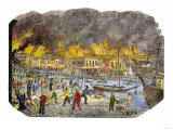 Panic on the Waterfront During a Great Fire in San Francisco  1851