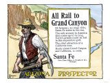 Arizona Prospector and the Grand Canyon Featured in a Santa Fe Railroad Ad  c1900