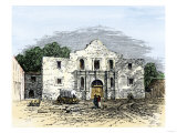 The Alamo in San Antonio  Texas  1800s