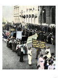 Women's Suffrage March on Fifth Avenue in New York  1911