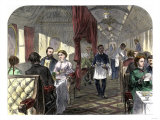 Palace Hotel Dining Car on the Union Pacific Railroad  1869