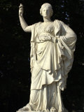 Statue of the Goddess Athena in a Garden of the Palace of Versailles  France