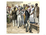 Slaves for Sale at an Auction in New Orleans  Louisiana
