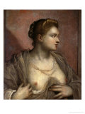 Portrait of a Young Venetian Woman Baring Her Breasts