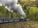 Steam Locomotive on the Cumbres & Toltec Railroad in the San Juan Mountains