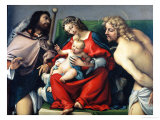 Madonna and Child Between Saints Roch and Sebastian
