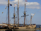Replica of the Jamestown Colonists' Ship Godspeed on Display in Yorktown Harbor  Virginia