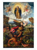 Saint Michael with the Devil and Our Lady of the Assumption Between Angels