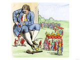 Gulliver in Lilliput  from Jonathan Swift&#39;s Gulliver&#39;s Travels