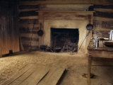 Interior of Slave Cabin Where Booker T Washington was Born  Burroughs Tobacco Plantation  Virginia