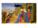 Cortona Altarpiece Showing the Annunciation  Predella: Visitation