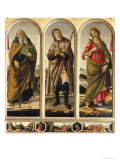 Triptych with St Anthony Abbot  St Roch  and St Catherine of Alexandria