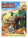 John Bull  Nautical Boats Painting Magazine  UK  1954
