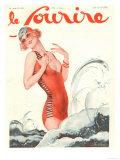 Le Sourire  Holiday Glamour Swimwear Magazine  France  1929
