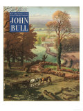 John Bull  Rural Farming Countryside Horses Logs Farms Magazine  UK  1953