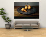Still Life of Pears on Antique Pewter Plate