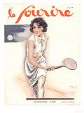 Le Sourire  Tennis Womens Magazine  France  1930