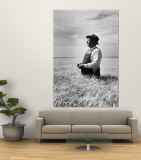 Farmer Posing in His Wheat Field