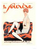 Le Sourire, Glamour Art Deco Pets Cats Womens Magazine, France, 1928 Giclée