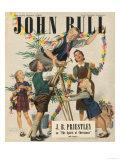 John Bull  Decorations Trees Paper Chains Magazine  UK  1946