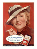 Craven A  Womens Hats Cigarettes Smoking Clothing Clothes  USA  1936