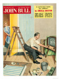 John Bull  People Watching Televisions  DIY Decorating Magazine  UK  1950