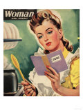 Woman  Cooking  Women at War Magazine  UK  1942