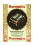 Equipment Burroughs  Adding Machines  Accountants  USA  1920