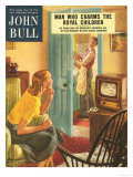 John Bull  Watching Televisions Washing the Dishes Washing-Up Up Magazine  UK  1950