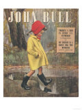 John Bull  Raining Stepping in Puddles Seasons Winter Magazine  UK  1947