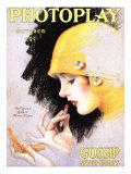 Photoplay Lipsticks Putting On Magazine  USA  1920