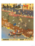 John Bull  Holiday Beaches Seaside Boats Trips Round the Harbor Magazine  UK  1949
