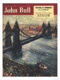John Bull  Thames Bridges Tower Bridge London Magazine  UK  1950