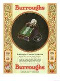 Equipment Burroughs  Adding Machines  Accountants  USA  1929