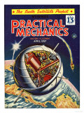 Practical Mechanics  Visions of the Future  Satellites and Space Exploration Magazine  UK  1950