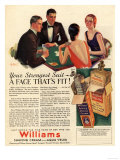 Williams  Aftershave Bridge Playing Cards Games Mens  USA  1920