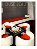 House Beautiful  Furniture Backgammon Board Games Magazine  USA  1930