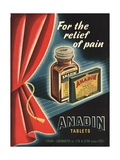 Anadin  Medicine Tablets Medical  UK  1940