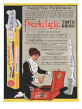Pro-phy-lac-tic  Toothbrushes  USA  1910