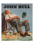 John Bull  Holiday Sleeping  Deck Chairs Magazine  UK  1946