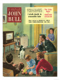 John Bull  Watching Televisions Dogs Taking the Dog For a Walk Walking the Magazine  UK  1950