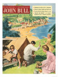 John Bull  Holiday Tents Camping Beaches Seaside Magazine  UK  1950