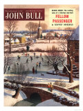 John Bull  Snow Ice Skating Winter Magazine  UK  1950