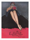 Womens Stockings Nylons Hosiery English Rose Roses  UK  1953