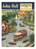 John Bull  Rowing Boats the Rivers Magazine  UK  1950