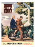 John Bull  Holiday Lost Directions Signposts Motorbikes Bikes Stress Magazine  UK  1953
