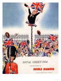 Double Diamond Coronation Union Jack Flags  UK  1953