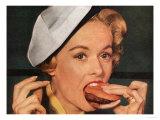 Eating Hamburgers  USA  1950
