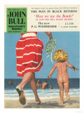 John Bull  Holiday Beaches Seaside Swimming Magazine  UK  1950