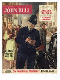 John Bull  Police Giving Parking Tickets Magazine  UK  1956